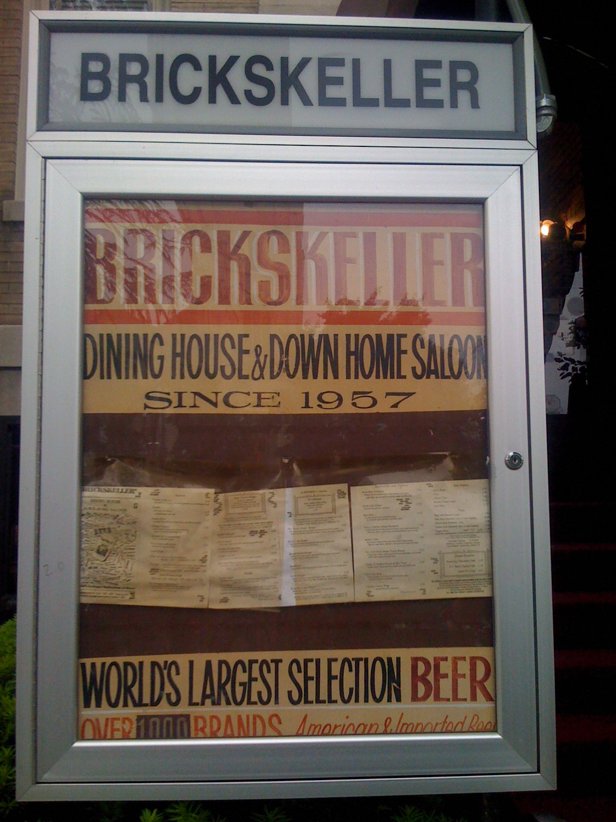 Sign outside the Brickskeller&#039;s