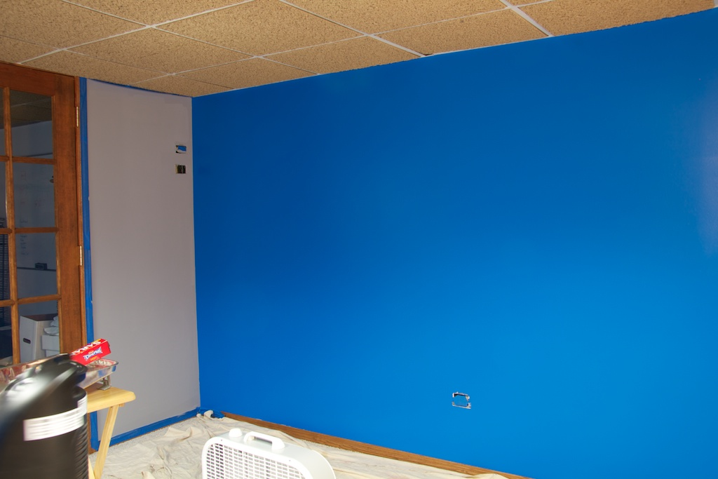 Blue wall: Half-way done!