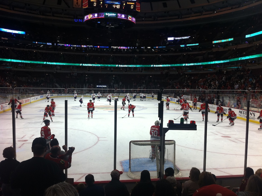 Blackhawks pre-season game