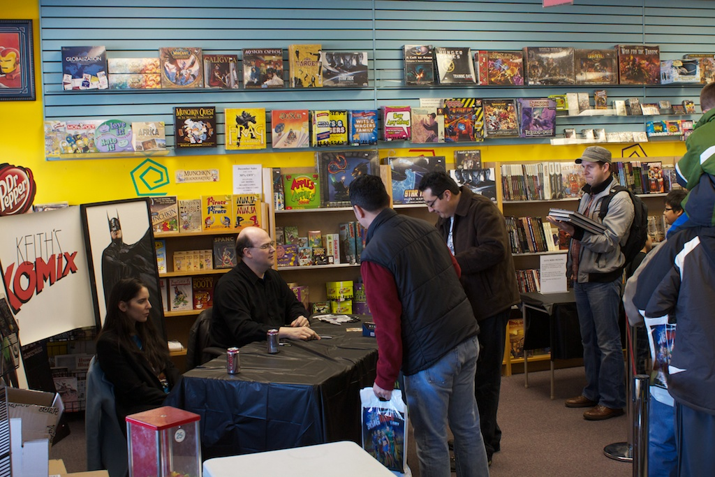 Alex Ross signing at Keith's Komix