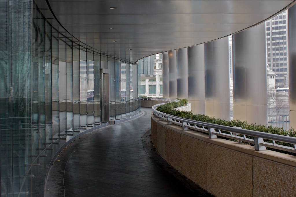 Walkway on the side of Trump Tower
